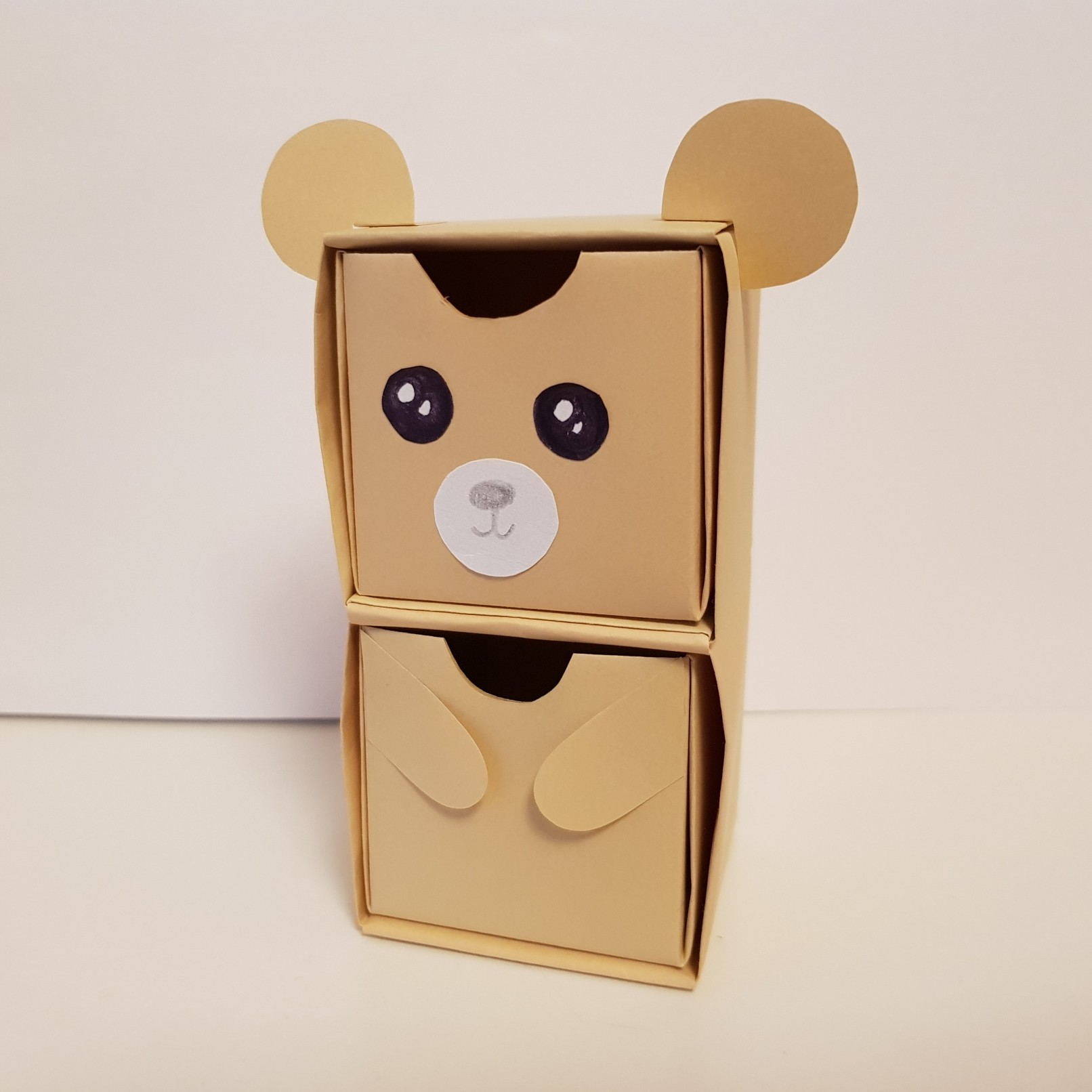 origami paper drawers bear