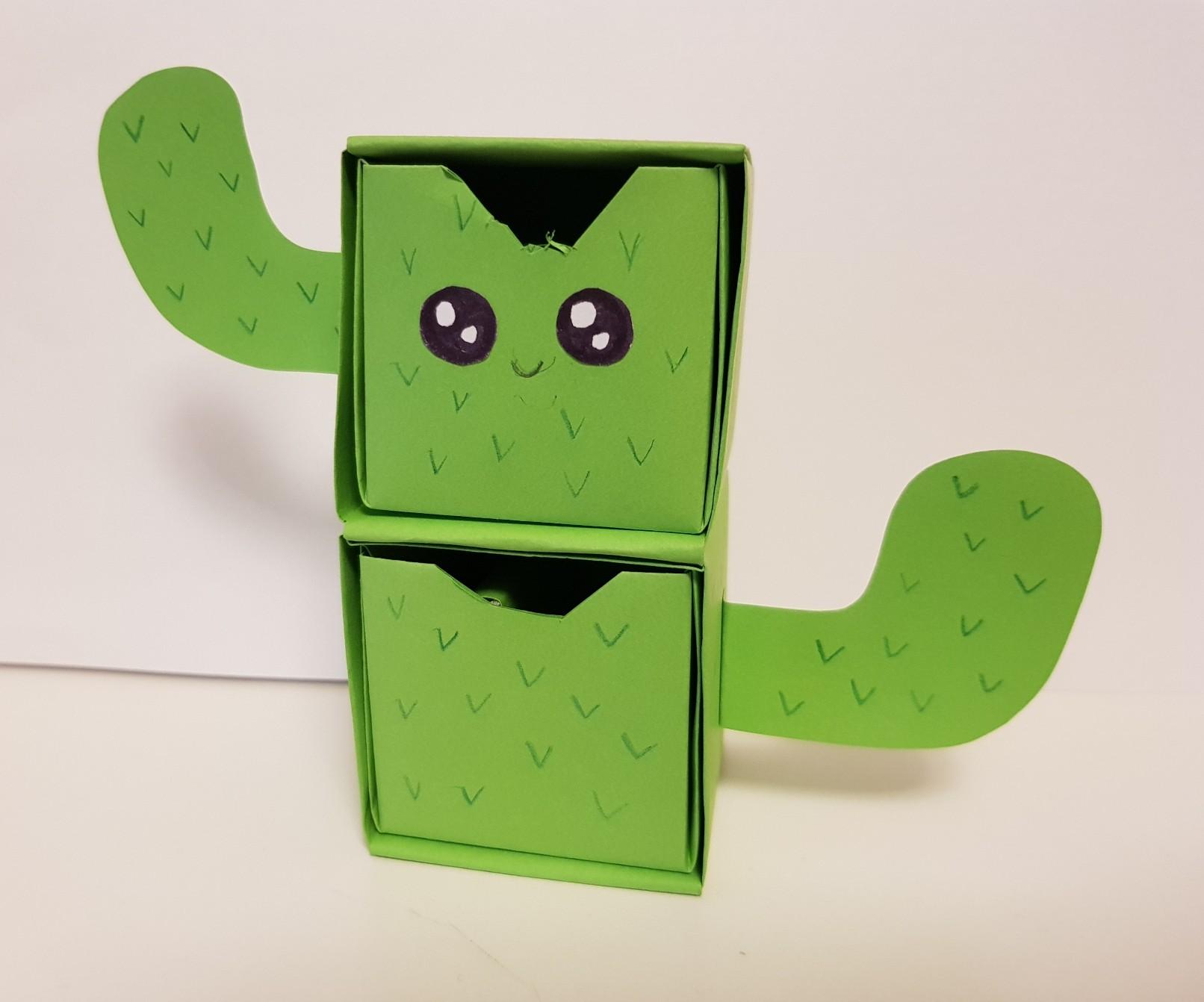 origami paper drawers cactus