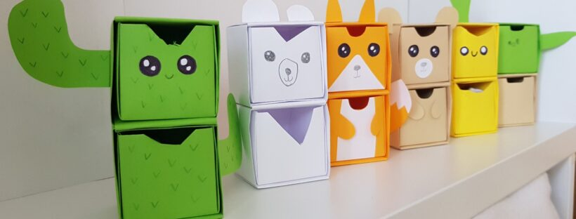 origami paper drawers featured