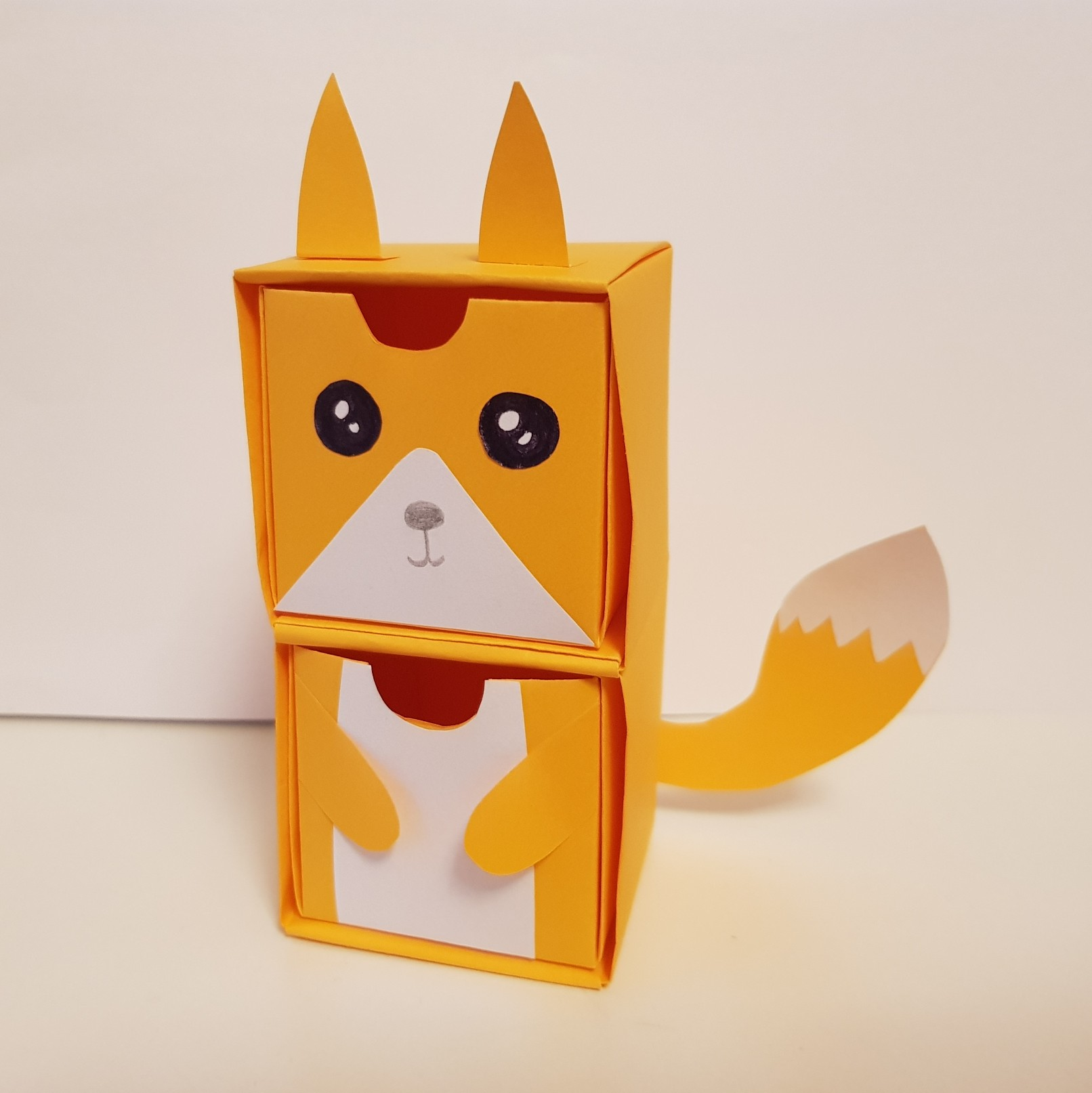 origami paper drawers fox tail
