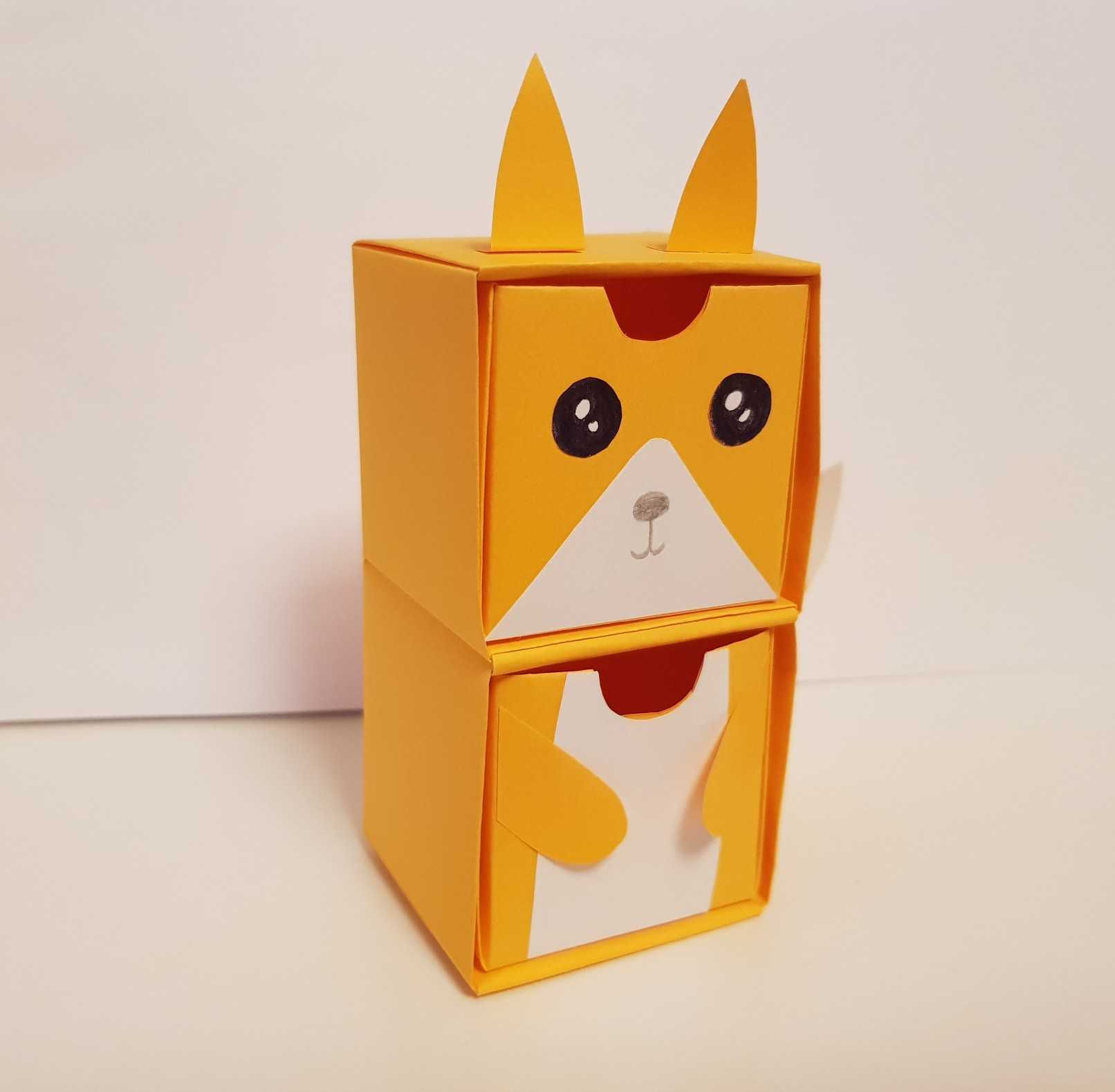 origami paper drawers fox