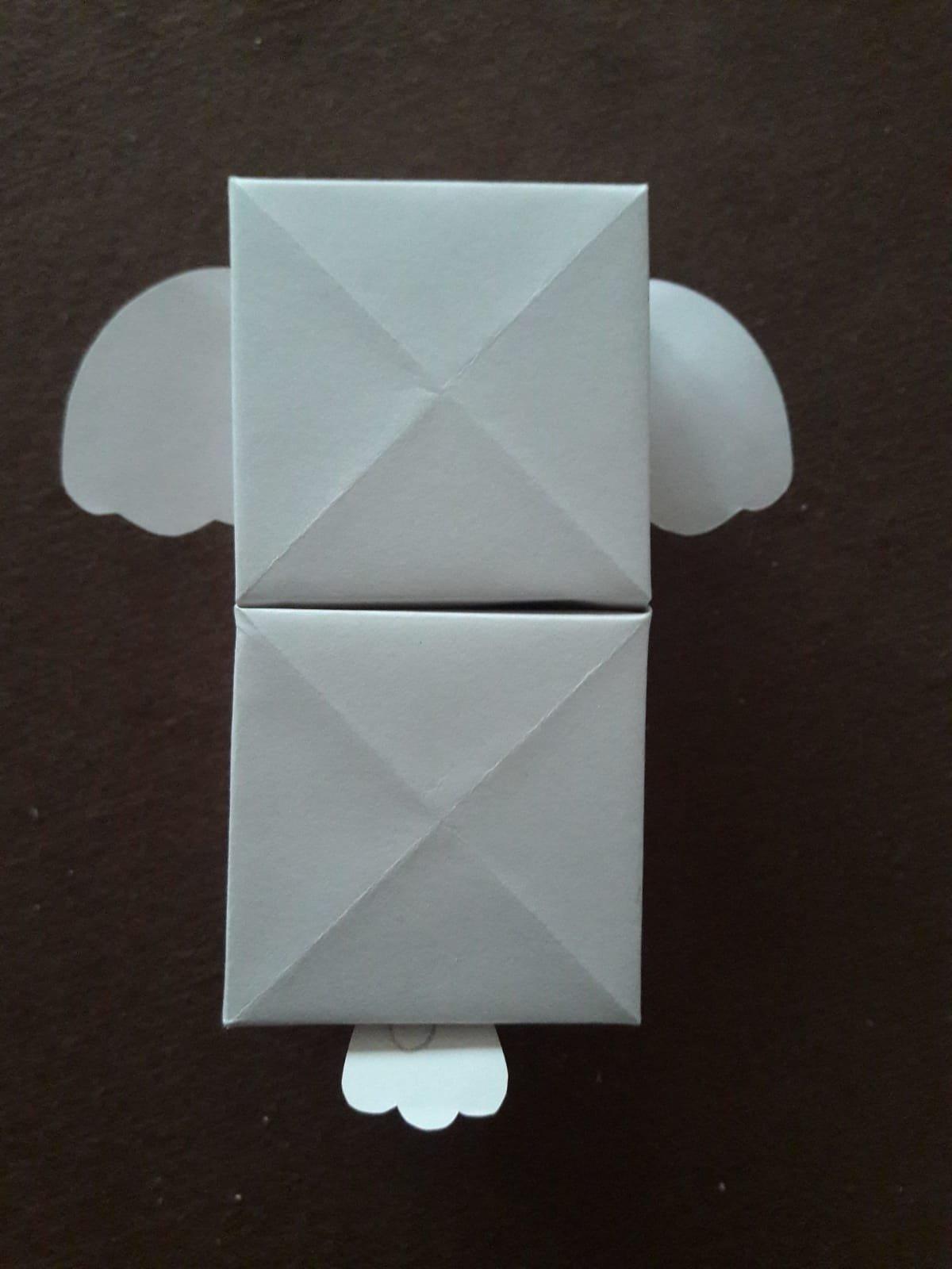 origami paper drawers koala back