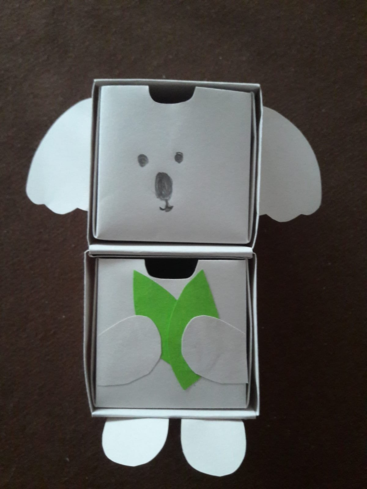origami paper drawers koala front