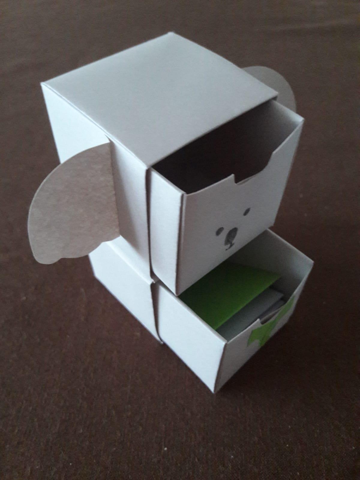 origami paper drawers koala open
