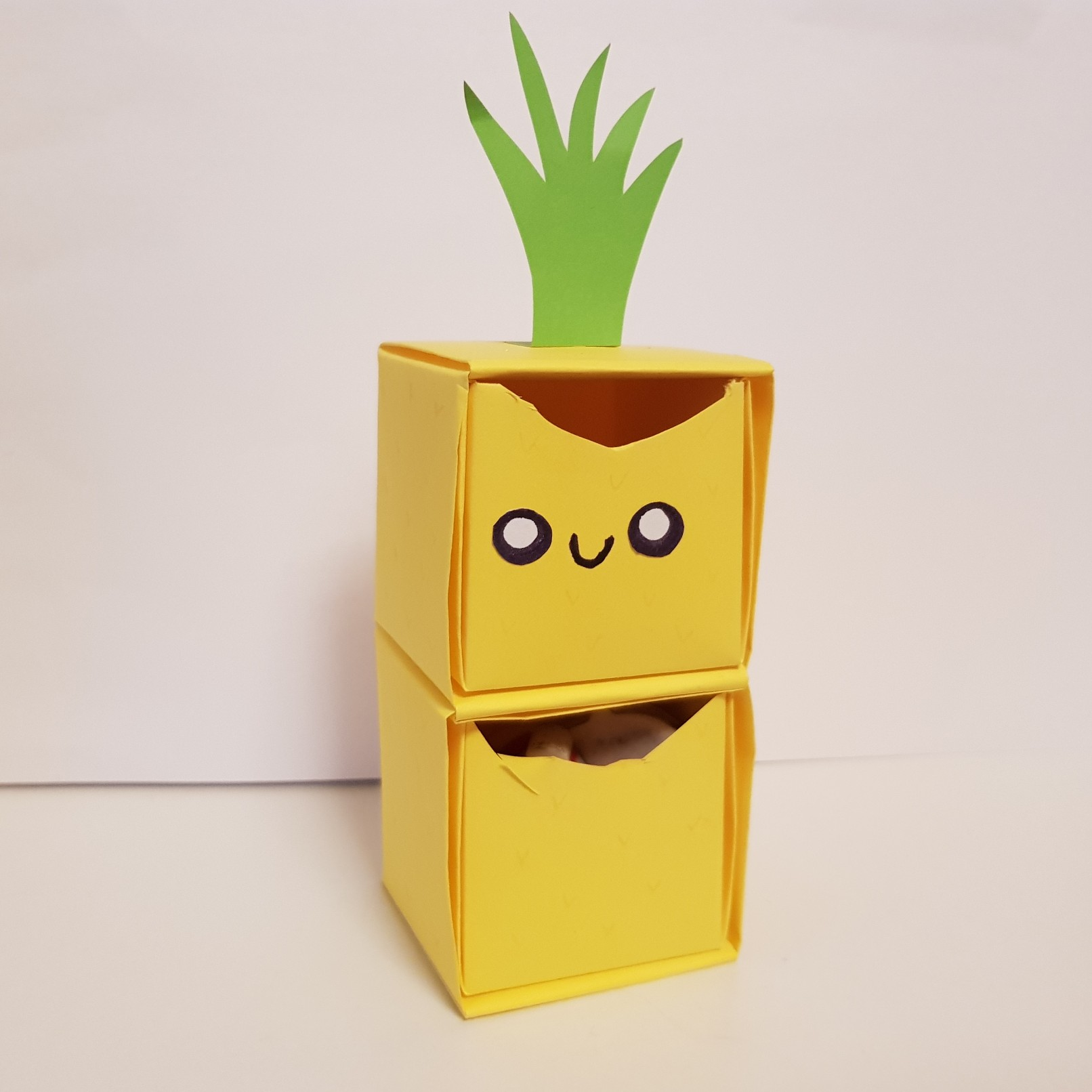 origami paper drawers pineapple