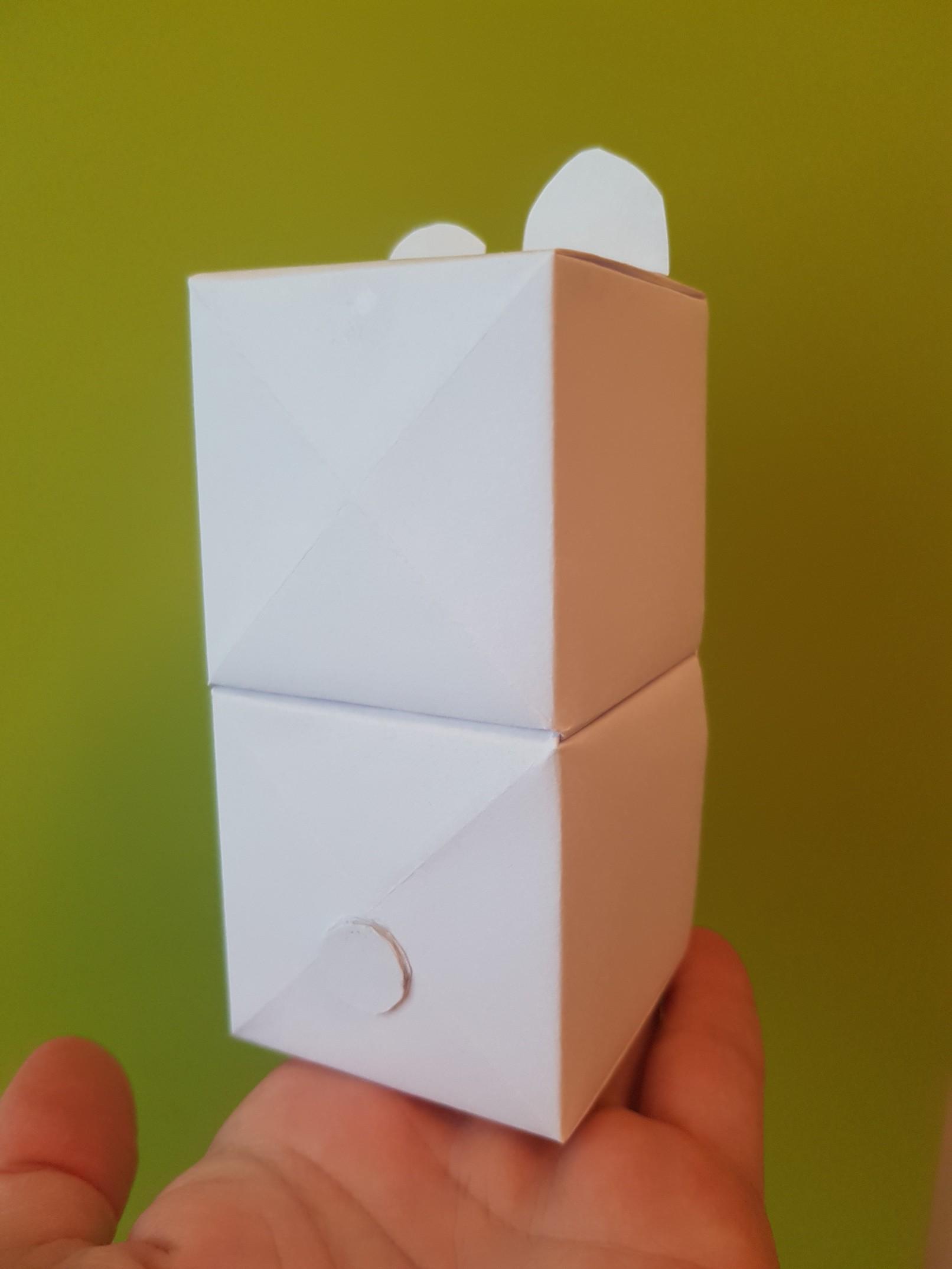 origami paper drawers polar bear back