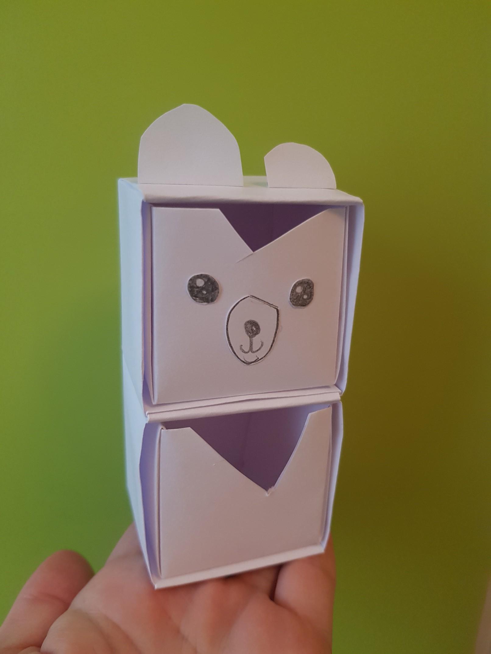 origami paper drawers polar bear