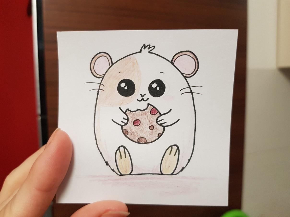 lunchbox art hamster cookie