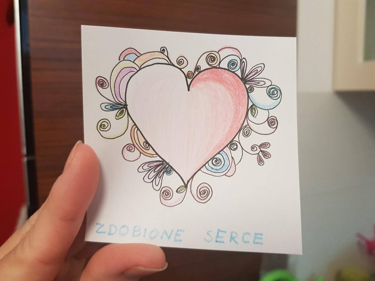 lunchbox art quilled heart
