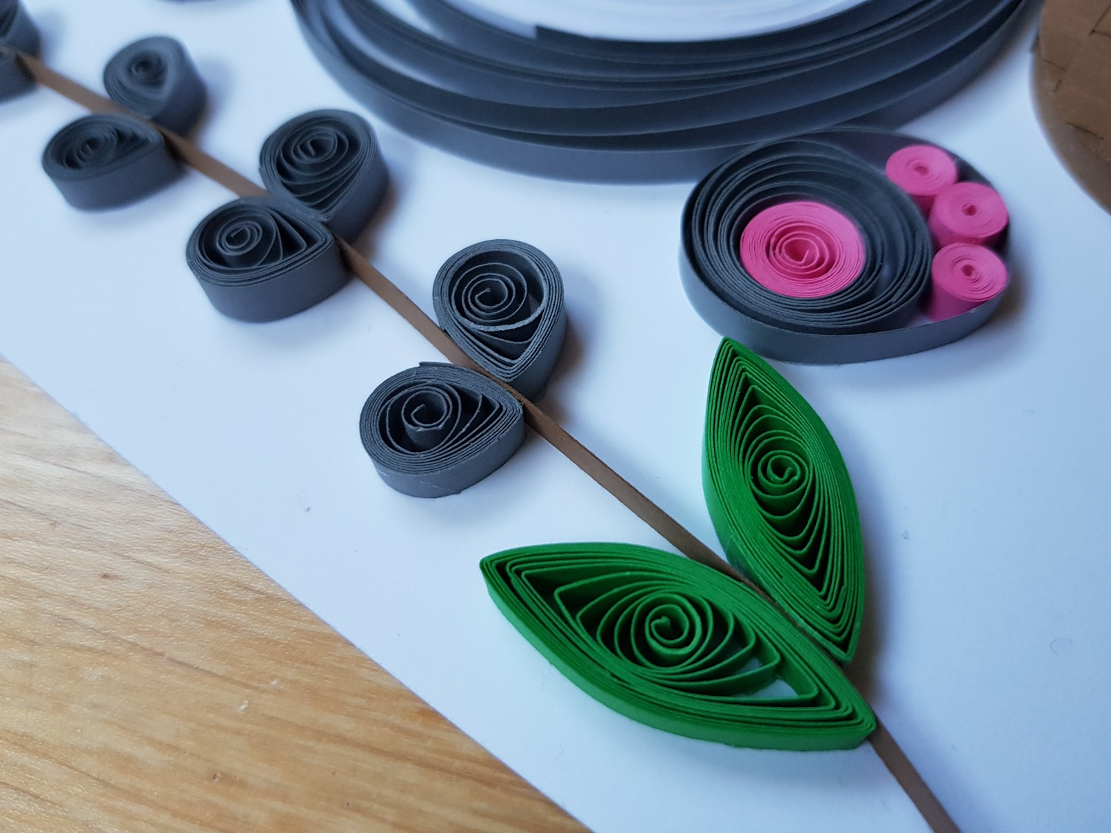 quilled easter bunny catkins full