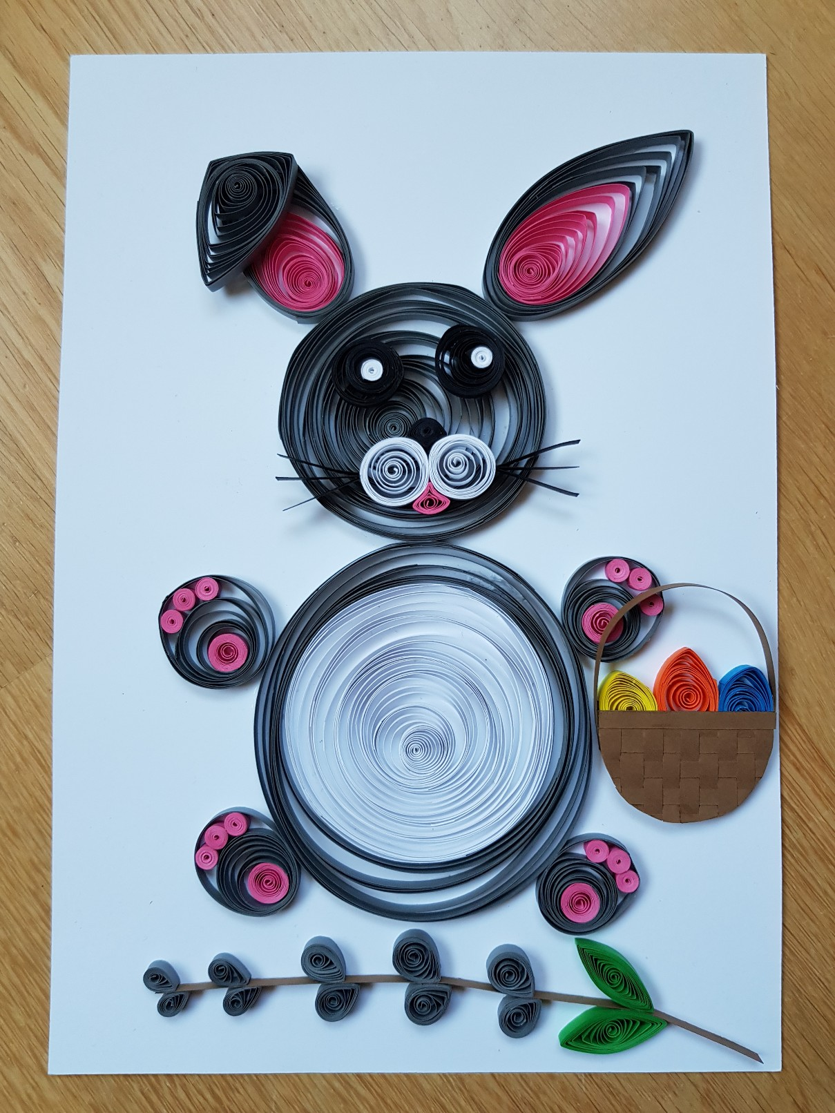 quilled easter bunny final