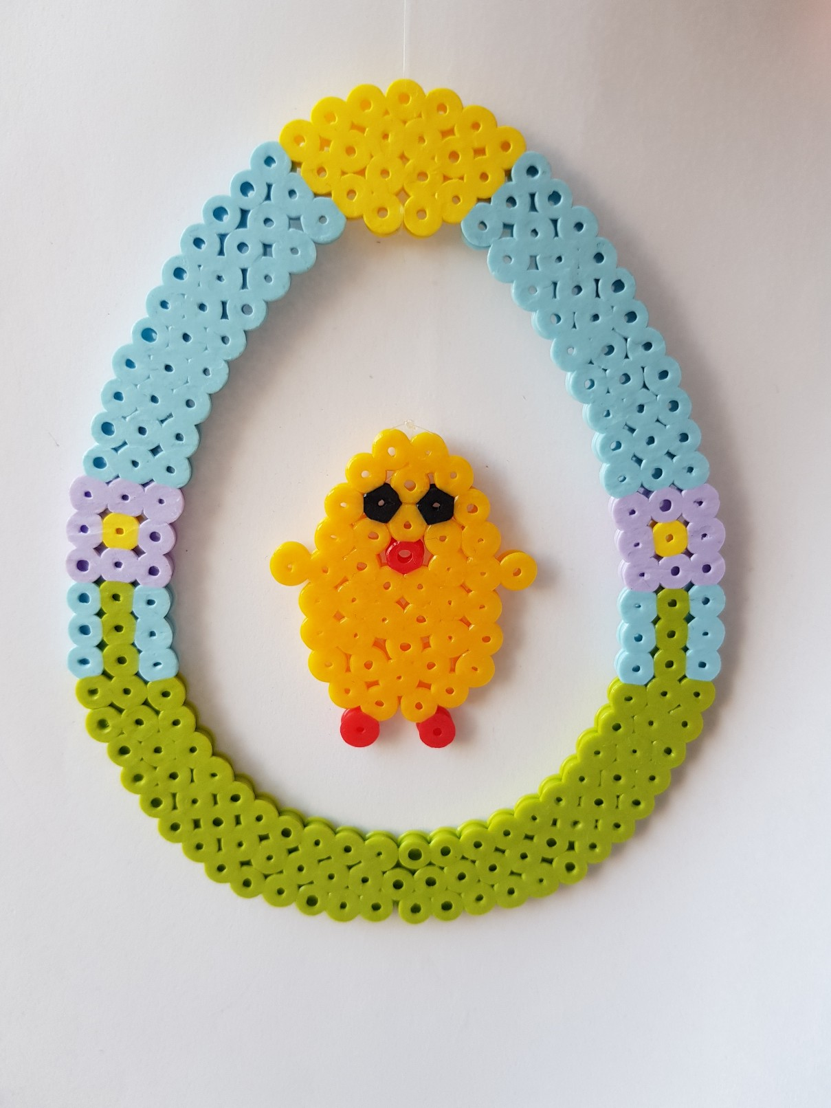 hama beads easter chick hanging