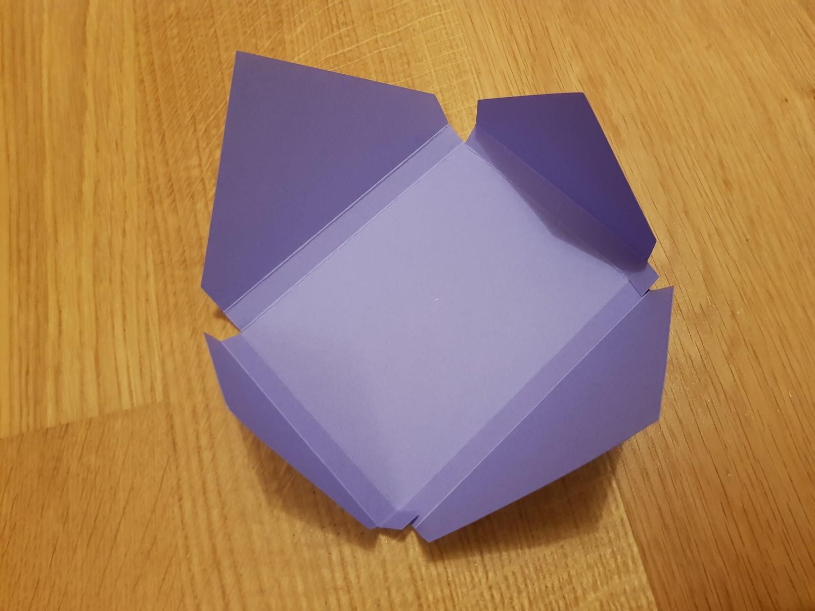 qulling easter card purple envelope making