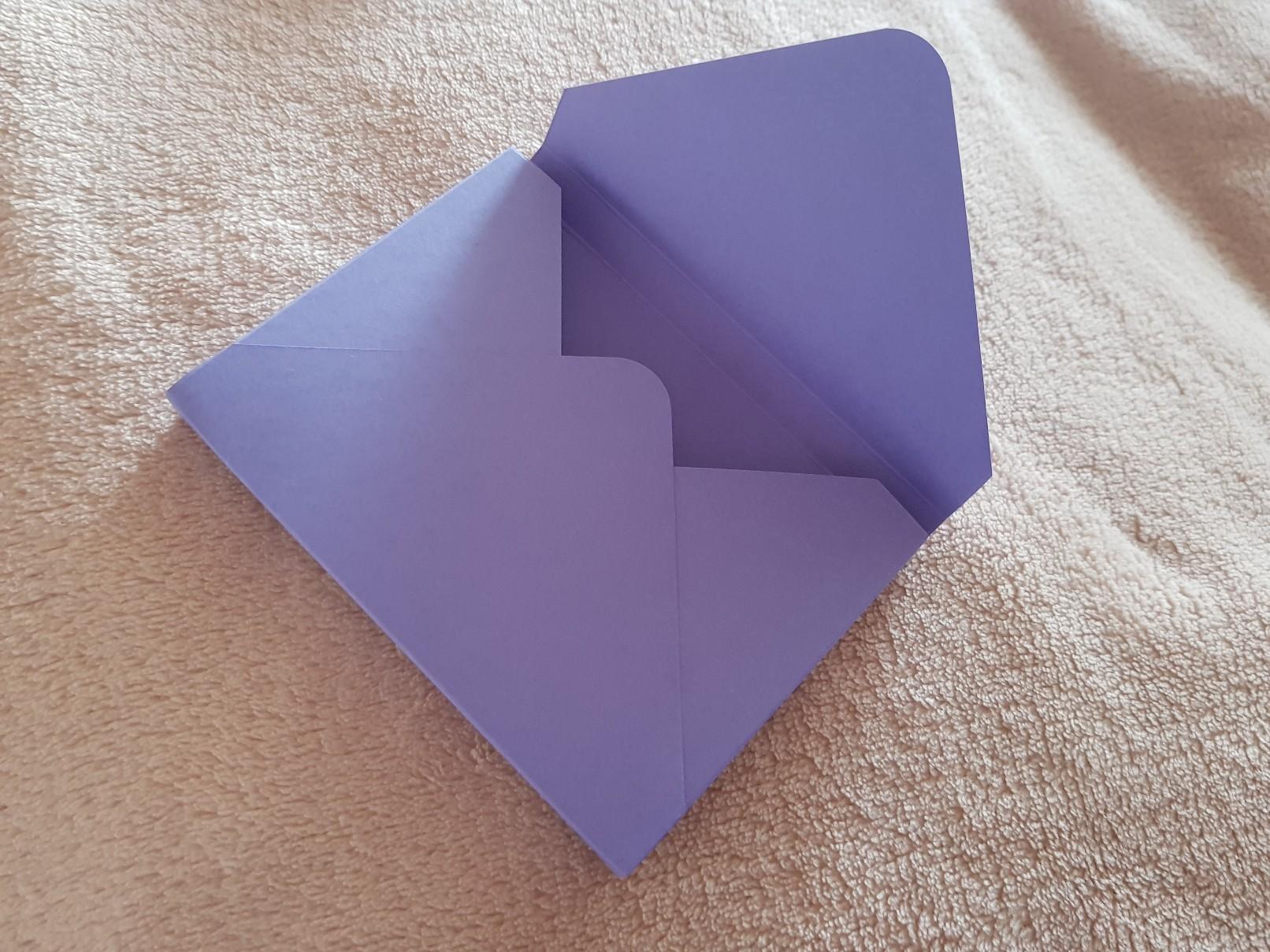 qulling easter card purple envelope ready